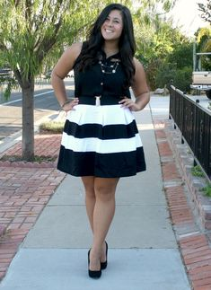 black-and-white-outfit-ootd-blog-fat-curvy-thick.jpg 1,262×1,732 pixels