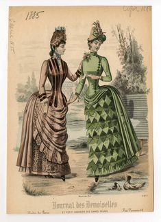 My mom had this painting or one VERY similar! Victorian Era Fashion, 1880s Fashion, Vintage Fashion, Victorian Dresses, Victorian Costume, Jean Délavé, Historical Costume, Historical Dress, Fashion Plates