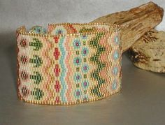 TUTORIAL Norwegian Fair Isle Peyote Cuff