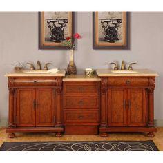 """Emily 83"""" Double Bathroom Vanity Set"""