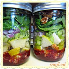 Turkey  salad mason jar recipe
