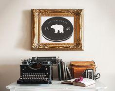 "Vintage-style ""Sic 'Em Bears"" print"
