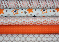 One For The Boys Stars quilt or craft fabric bundle by Zoe Pearn for Riley Blake Designs- Fat Quarter Bundle, 5 total on Etsy, $15.00