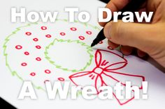 How To Draw A Simple Wreath For Kids!