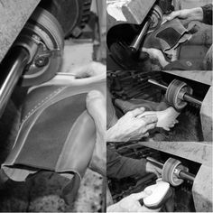 Trim the edges is a material process highly specialized, for which the edges of the sole are trimmed following the shape of the last. #franceschetti handmade shoes Made in Italy