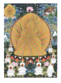 Today is Guru Rinpoche Day -- the 10th day of the lunar calendar. Padmasambhava[1] (Skt.) (Skt. Padmākara; Tib. པདྨཱ་ཀ་ར་, པདྨ་འབྱུང་གནས་, Pemajungné; Wyl. pad+ma 'byung gnas, in Sanskrit transliteration པདྨ་སམྦྷ་ཝ་) means 'Lotus-born', which refers to Guru Rinpoche's birth from a lotus in the land of Oddiyana. Guru Rinpoche, the 'Precious Master', is the founder of Tibetan Buddhism and the Buddha of our time. Whereas Buddha is known primarily for having taught the teachings of the sutra…