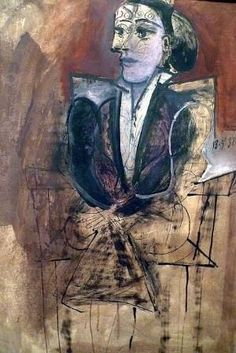 Pablo Picasso Dora Maar Seated/Dora Maar assise 1938 Ink, gouache and oil paint on paper on canvas Support: 689 x 625 mm frame: 925 x 685 x 120 mm Tate Purchased 1960 Kunst Picasso, Art Picasso, Picasso Paintings, Dora Maar, Georges Braque, Paul Gauguin, Henri Matisse, Guernica, Pierre Auguste Renoir