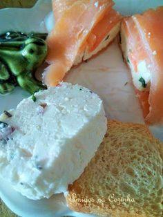 Amigos na Cozinha: Rolinhos de Salmäo com queijo da tia Bolicha