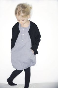 gray dress with black card