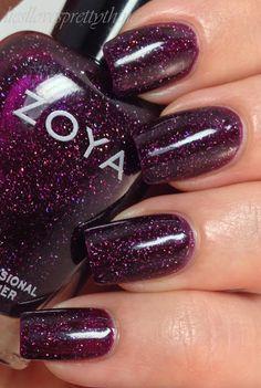 Polished Elegance: Zoya Dream and Payton Zoya Nail Polish, Nail Polish Colors, Manicure And Pedicure, Get Nails, Love Nails, How To Do Nails, Fabulous Nails, Gorgeous Nails, Pretty Nails