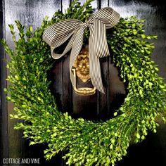 wreaths from vines Christima | Found on cottageandvine.blogspot.com