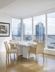 Modern White Dining Area