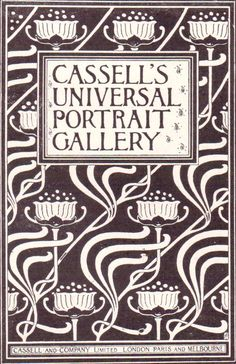Talwin Morris (1865-1911)  paper cover for monthly subscription edition of Cassell's Universal Portrait Gallery c 1896