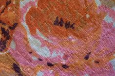 Vintage Linen 70 Round Pink and Orange by wemixandmatchvintage, $16.00
