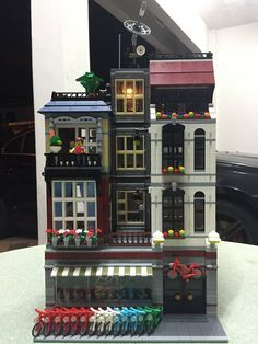 """Love the new LEGO Modular """"Detective Office. Then you will like this. A MOC done…"""
