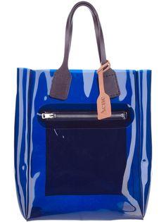ACNE Bolsa Azul Modelo 'Cadeau'. @farfetchbrasil