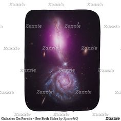 Galaxies On Parade - See Both Sides Baby Burp Cloth