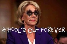 Betsy DeVos = School's out forever Liberal Politics, Conservative Politics, School's Out Forever, Betsy Devos, Trump Pence, Great Women, Right Wing, Women In History, The Only Way