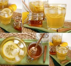 Cinco Quartos de Laranja: Chá verde gelado com limão e canela