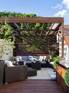 Home Architecture, Extraordinary Design Of Rooftop Deck With Sunrise Lighting Breathtaking Comfort Place With Modern Couches Smooth Soft And Awesome Roof Deck Ideas Above Ground Pool Deck Ideas Modern: Relaxing Room With Natural Atmosphere Can You Find From Rooftop Deck Ideas