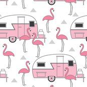 Buy pink trailers and flamingos on white custom fabric, wallpaper and home accessories by lilcubby on Spoonflower Flamingo Gifts, Flamingo Art, Flamingo Pattern, Pink Flamingos, Flamingo Fabric, Flamingo Outfit, Pink Flamingo Party, Pretty Birds, Pretty In Pink