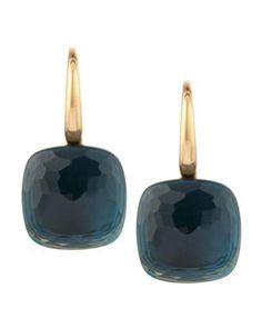 Pomellato Nudo 18k London Blue Topaz Earrings