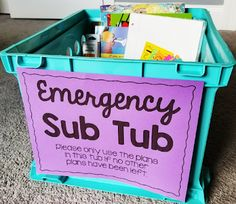 Tips for a Successful Sub Experience | Thrifty in Third Grade