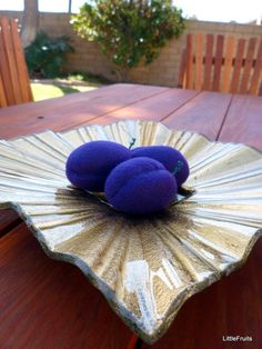 Felt Plums Handcrafted Toys Pretend Play Food or by LittleFruits, $9.00