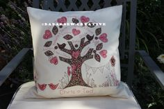 One of my family tree cushion designs. Made by me. See www.facebook.com/babas.sew.creative for more details or comment below