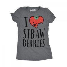 35c3b861a3b9 Strawberry Shirt Women, SCENTED Fruit Shirt, Perfumed Womens Shirt That  Smells Of Strawberries, Summer Strawberry Tee, I Love Strawberries