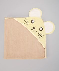 Another great find on #zulily! Khaki Mouse Hooded Towel by Sweet & Soft #zulilyfinds