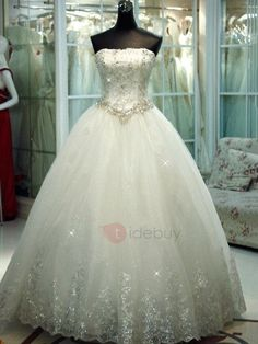 Tidebuy.com Offers High Quality Beautiful Crystal Beaded Ball Gown Wedding Dress, We have more styles for Wedding Dresses 2016