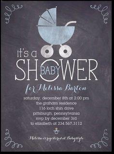18 best boy baby shower invitations images on pinterest boy shower chalkboard buggy stream baby boy shower invites filmwisefo