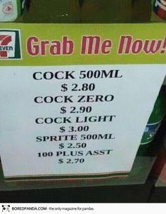 COCK zero o COCK light? #coke