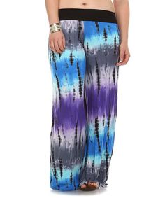 25 Another great find on #zulily! Purple Tie-Dye Palazzo Pants - Plus #zulilyfinds