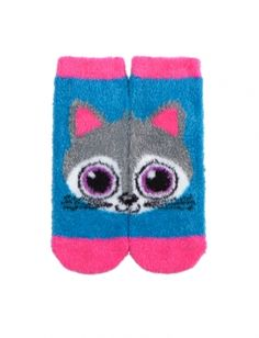 Fuzzy Cat Ankle Socks