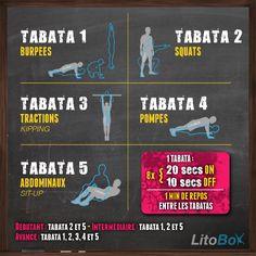 Aujourd'hui c'est Tabata ! En mode CrossFit c'est 24 minutes d'intensité pour un entraînement éprouvant ;)  Bon courage et bon week-end.  #litobox #crossfit #tabata