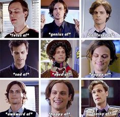 Matthew Gray Gubler as Spencer Reid on Criminal Minds