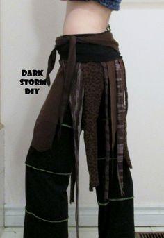 Brown Festival Wrap Skirt DIY Gypsy Hippie Clothing – Dark Storm DIY