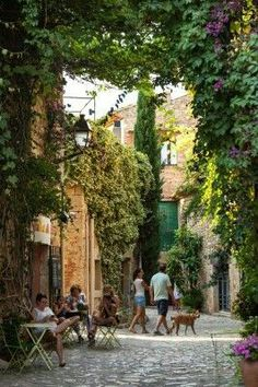 Wandering in the village of Peratallada - Costa Brava, Baix Empordà, Catalonia. Places Around The World, The Places Youll Go, Places To See, Around The Worlds, Barcelona Travel, Spain And Portugal, Spain Travel, Holiday Destinations, Vacation Spots