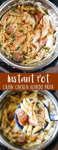 Instant Pot Pasta Cajun Chicken Alfredo with Smoked Sausage
