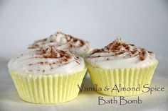 Repin: Bath Bombs, Cupcake Bath Bombs, Bath Salts, Spa Party, Party Favors, Vanilla and Almond Spice, Spa Gifts, Wholesale #kismibellaskincar…