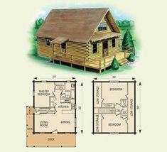 spencer log home and log cabin floor plan