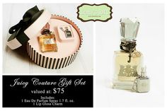 1 Lucky fan will win this Juicy Couture Gift Set Valued at $75.00! Good luck, and Happy New Year!