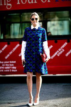 Helena Bordon's Best Street Style Outfits - graphic print short sleeve coat