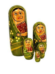 Hand Painted Wooden Nestling Dolls, Green, http://www.myhabit.com/redirect/ref=qd_sw_dp_pi_li_c?url=http%3A%2F%2Fwww.myhabit.com%2F%3F%23page%3Dd%26dept%3Dhome%26sale%3DAC653XWSQTWDR%26asin%3DB00D1TCVP4%26cAsin%3DB00D1TCVP4