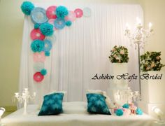 mini dais-7 Paper Flower Decor, Paper Flowers, Diy Birthday Decorations, Wedding Decorations, Wall Backdrops, Wedding Backdrops, Debut Ideas, Event Decor, Photo Booth