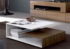 Contemporary Moon Coffee Table in Various Matt Lacquer and Wood Finishes