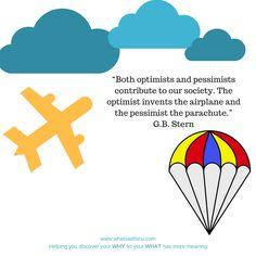 Airplane or parachute?