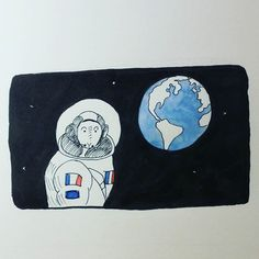 Dans les Etoiles - L. Tiger #astronaut #spationaute #espace #space #thomaspesquet #unnormanddanslespace #beauvalencaux #onedrawingaday #365drawings #dailysketch  #inkdrawing #vivelafrance #encre #ink #france #mouse #unfrancaisdanslesetoiles #planet #terre #world #earth #littleplanet #stars #etoiles @thom_astro #lecarnetdutigre